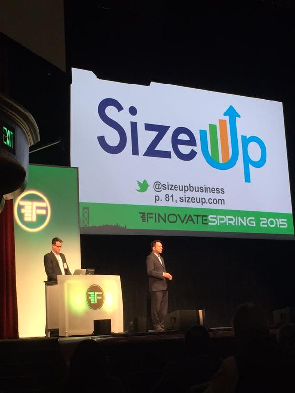 SizeUp_Finovate_Stage